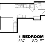 169 Lisgar - 1 Bedroom Apartment Floorplan