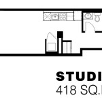 169 Lisgar - Studio Apartment Floorplan